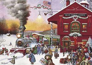 Buffalo Games - Charles Wysocki - Whistle Stop Christmas - 500 Piece Jigsaw P...