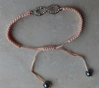Bracelet Rose Fille Tressé Coton Réglable