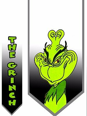 The Grinch Design 2 Christmas Necktie Holiday Party fun How the Grinch Stole