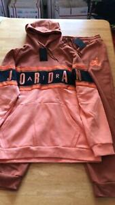 Nike-Air-Jordan-Track-Sweat-Suit-Set-Hoodie-Joggers-Pants-Sweats-Men-039-s-3XL-XXXL