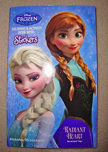 DISNEY FROZEN Anna Amp Elsa MINI COLORING BOOK W 35 Stickers