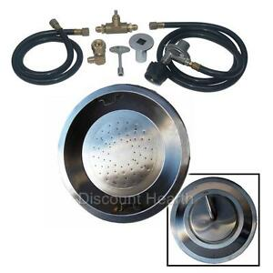 22-034-Drop-In-Stainless-Steel-Gas-Burner-Fire-Pit-Firepit-fire-Glass-Complete-KIT