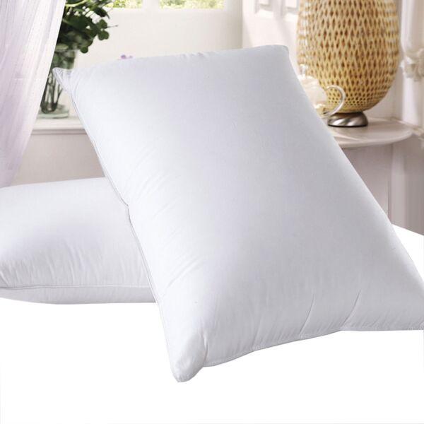 1 - White 600 Thread Count Goose Down Pillow - 700fp - Standard & King Size Materialen Van Hoge Kwaliteit