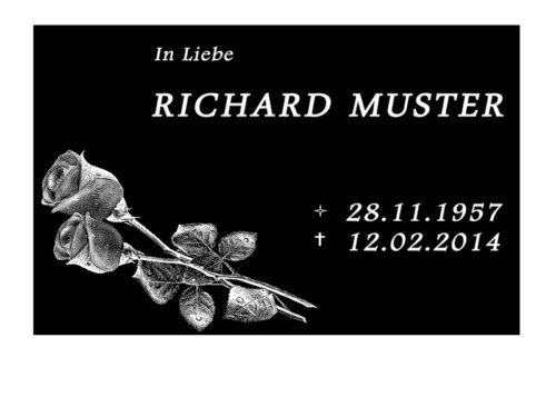 Inschrift Motiv und Kerze Urnengrab Grabmal inkl Grabsteine //GRANIT POLIERT//