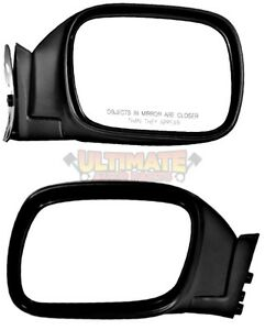 side view mirrors manual pair rh lh for 97 01 jeep. Black Bedroom Furniture Sets. Home Design Ideas