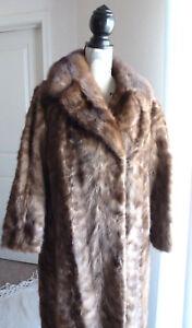 La Foto Se Está Cargando Genuine Real Mink Fur Coat Jacket Vintage Stroller