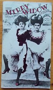 The Merry Widow programme English National Opera ENO 1986 Eric Shilling
