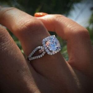 56e9722ee91 Details about Certified 2.55Ct White Round Diamond Engagement Ring in Solid  14K White Gold