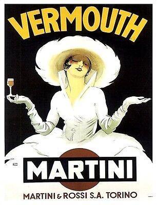VERMOUTH MARTINI VINTAGE STYLE METAL WALL ADVERTISING SIGN NOSTALGIC GIFT