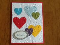 Sale Scrap Heart Friendship Love Sparkle Valentine Card Kit Of 9 W/ Stampin' Up