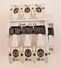 Danfoss Contactor  25Amp  11KW   3 Pole  037H0051-23   110VAC Coil Voltage