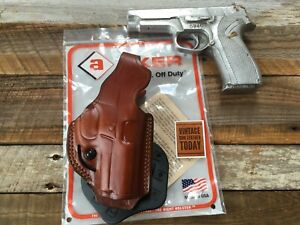 AKER FLATSIDER LEATHER PADDLE HOLSTER FOR S/&W M/&P COMPACT 9MM .40 LEATHER RIGHT