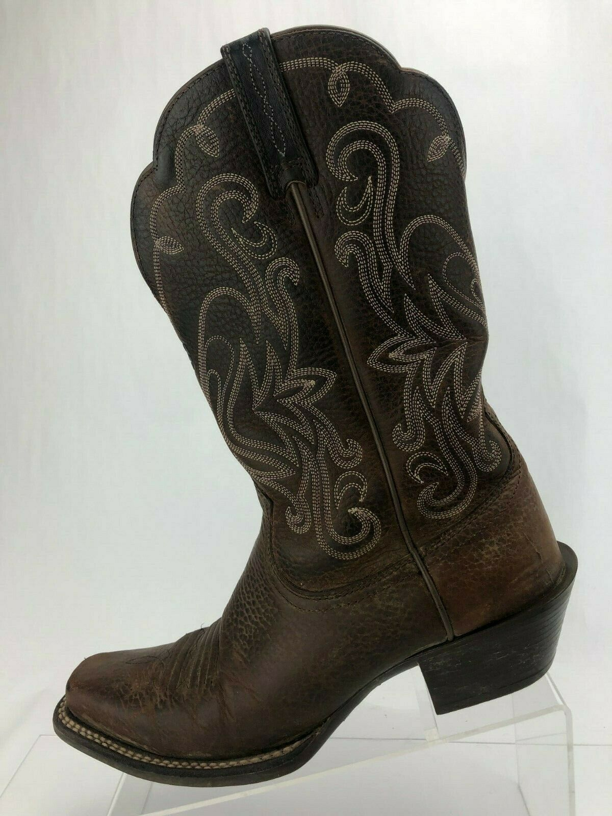 Ariat Legend Western Boots Rowdy Cowgirl Brown Leather Cowboy Riding Womens 8.5B