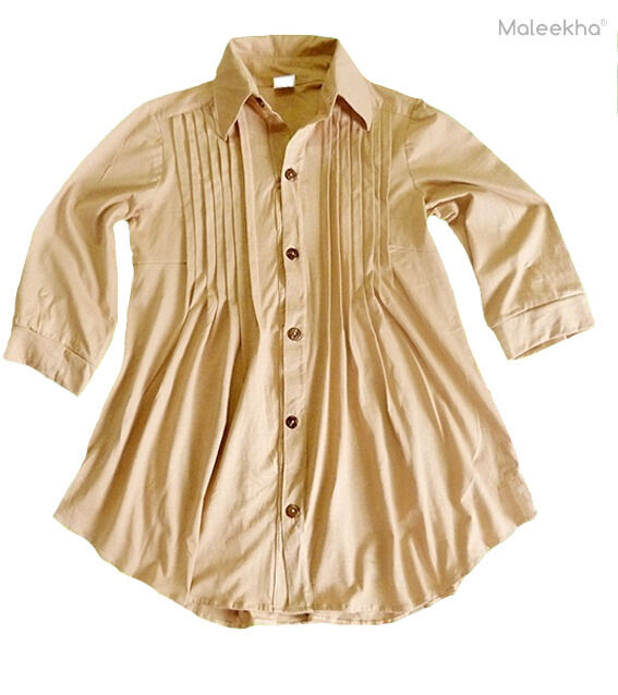 Long Sleeve Top Blouse Shirt 100% Brazilian Ecological Organic Cotton