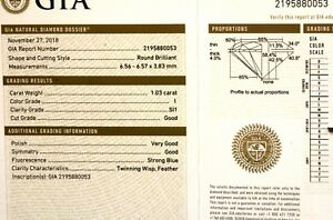 GIA-loose-certified-1-03ct-SI1-I-round-brilliant-diamond-estate-vintage-antique