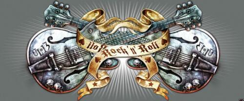 Alchemy Vlies Fototapete XXL Tapete Poster 212736FW Gitarren Hardrock Leute und