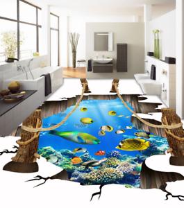 3D Seefisch 66 Fototapeten Wandbild Fototapete Tapete Familie DE Lemon