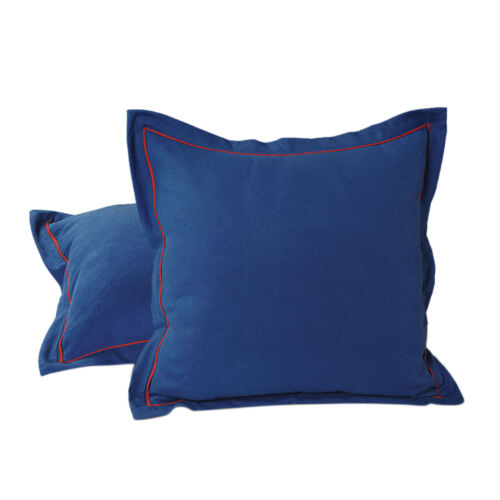 Home Decorative 100/% Cotton Pillow Cover Case Solid Fashion Cushion Cover