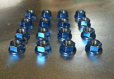 16 10mm x 1.25 ATV Lug Nuts Candy Blue Powder Coated Honda Yamaha Kawasaki