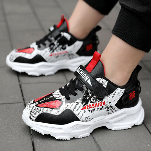 Kids Boys Breathable Sneakers Winter Fall Outdoor Athletic Breathable Sport Shoe
