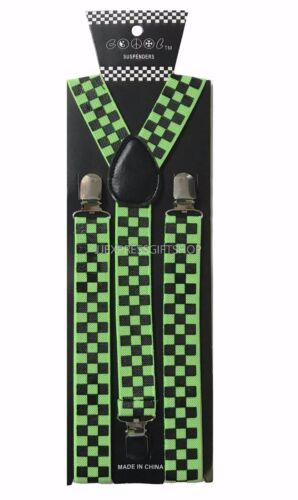 Colors Mens Womens Clip-on Suspenders Elastic Y-Shape Adjustable Braces 100