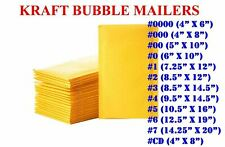 50100200500 Kraft Bubble Mailers Padded Envelope Shipping Bags Seal Any Size