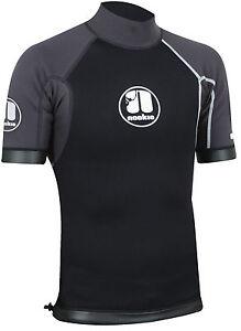 Blk/Gry-Nookie Ti Vest Short Sleeve-1mm Neoprene Top-Kayak/Surf<wbr/>/SUP/Wetsuit