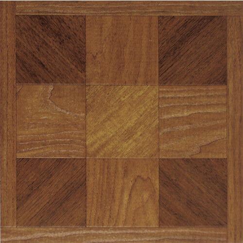 Wood Squares Vinyl Flooring 36 Pcs Adhesive Floor Tile - Actual 12'' x 12''