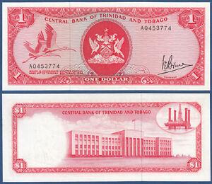 Trinidad & Tobago 1 Dollar L.1964 1977 Unc P.30 A Moderate Cost