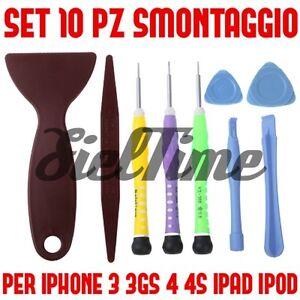SET 10 PEZZI CACCIAVITI SMONTAGGIO IPHONE 3GS 4S 5 5C NUOVO IPAD 2 3 TORX STELLA