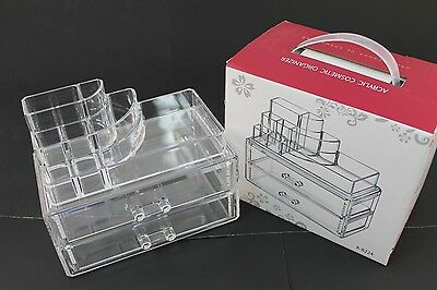 Cosmetic Makeup Jewelry Lipstick brush Ring Clear Acrylic Case Organizer K8228A7