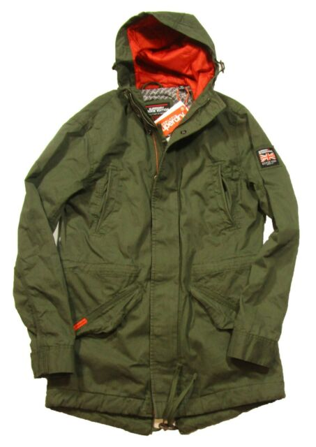big sale 4916a ea8ae Superdry Men's Forest Night Green New Rookie Military Hooded Parka Jacket