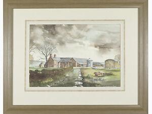 original-signed-watercolour-039-Down-The-Farmyard-039-by-Alan-Gill
