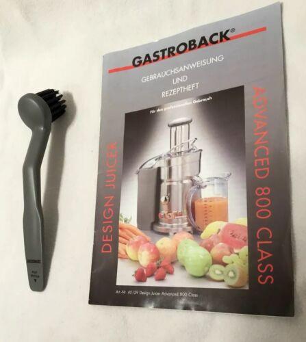 Gastroback Entsafter Advanced Juicer 40129 40133 Bürste Reinigung