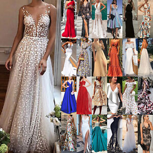 Women-039-s-Formal-Prom-Ball-Gown-Evening-Party-Ladies-Bridesmaid-Wedding-Dresses