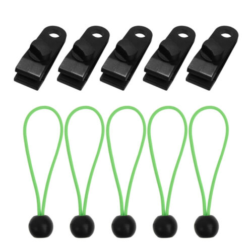 Stick Tent Fasteners Clips Holder Black Ball Bungee Bungee Cord Tarp Clips