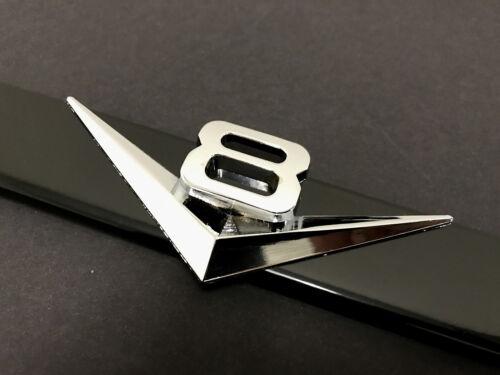 """1pc 3D /""""V8/"""" Black Metal License Plate Frame Holder"""