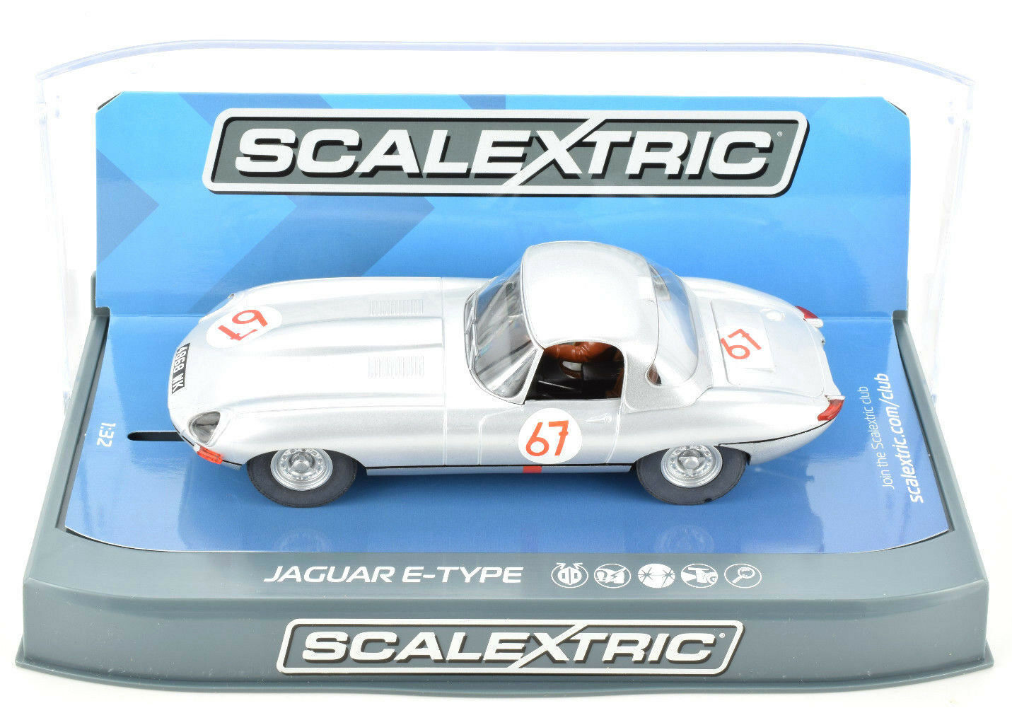 Scalextric Jaguar E-Type - 1963 Nurburgring 1000km W  Lights 1 32 Slot Car C3952