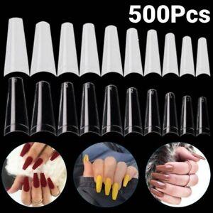 500Pcs-Coffin-Flat-French-False-Nail-Half-Nail-Art-Acrylic-Gel-C-Curve-Tips