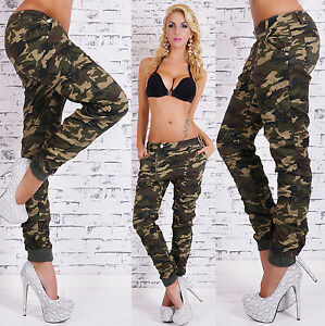 Image is loading Women-039-s-camouflage-Pants-Hipsters-Jeans-Boyfriend- 9e878f990