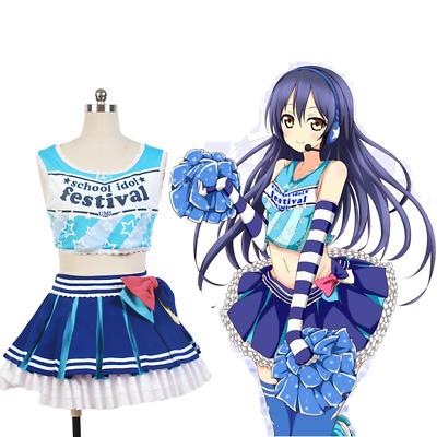 Cheerleader Honoka Kousaka Cosplay Costume Uniform Outfit Cheer Dress Love Live