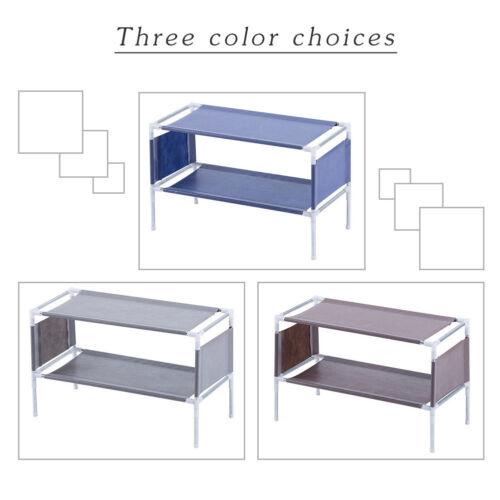 New Shoe Rack Shelf Storage Closet Metal Stand Organizer Fabric Holder Stackable