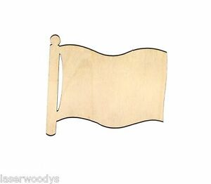 Flag-on-Pole-Unfinished-Wood-Shape-Cut-Out-FOP38-Crafts-Lindahl-Woodcrafts