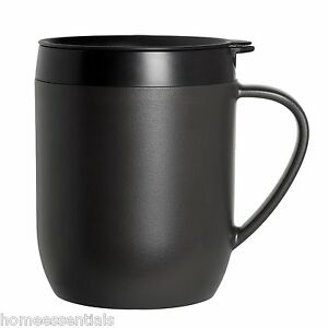 Zyliss-Hot-Brew-Mug-Grey-Cafetiere-Coffee-Cup-With-Lid-Travel-Mug-Graphite
