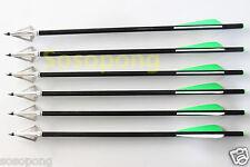 6 PCS CROSSBOW ARROWS BOLTS + 6PCS 3-BLADE SHARP HUNTING BROADHEAD FOR HUNTING
