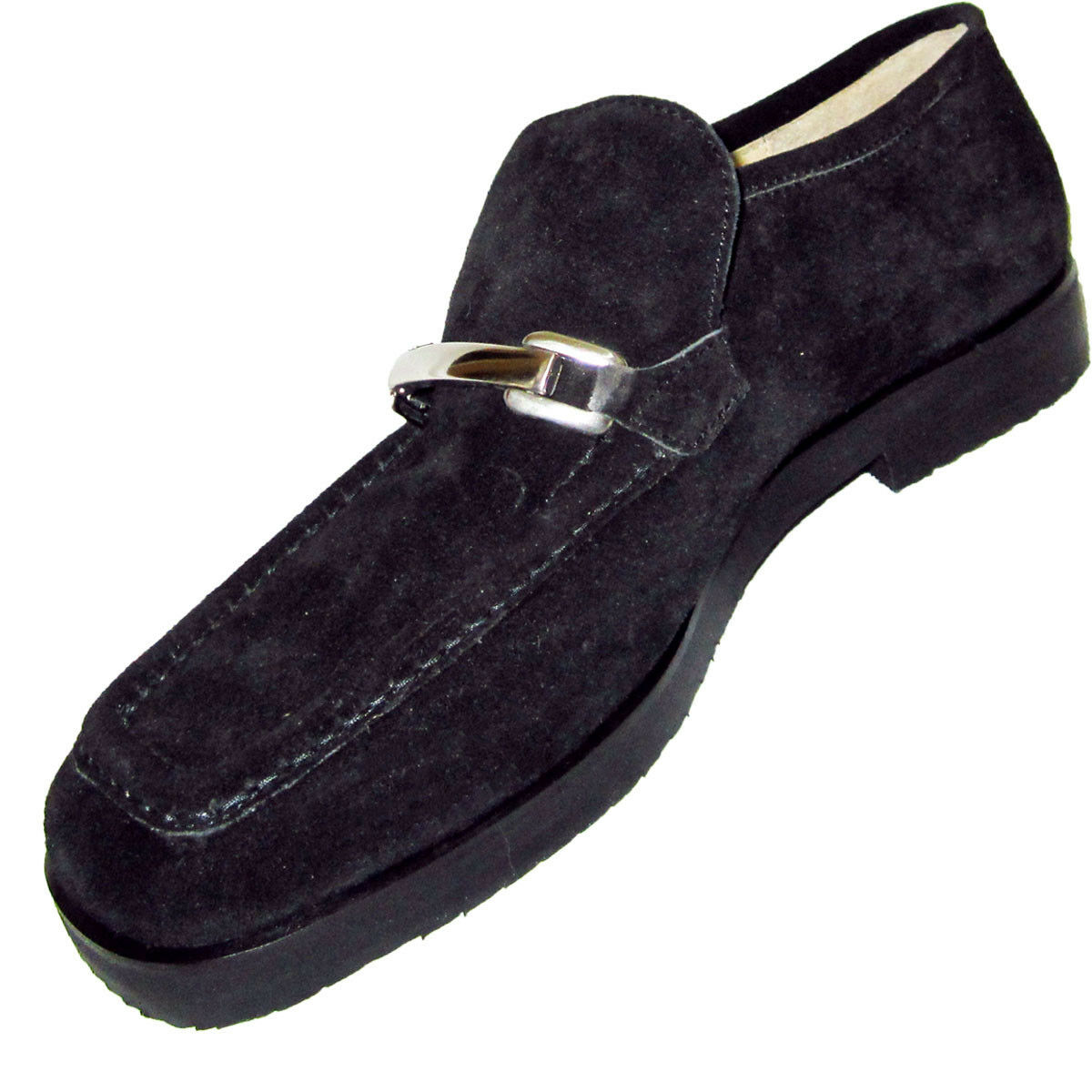 New FIERAMOSCA High-End Suede Loafers shoes CHROME Detail MADE in in in ITALY 7N 223ebc