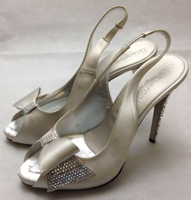 Gianmarco label Lorenzi schwarz label Gianmarco Donna Decolte Crystal encrusted heels. f4009b
