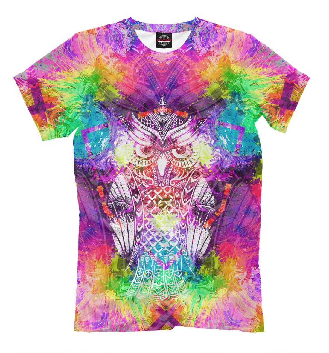 Glorious mandala t-shirt Psy geometry pattern edm rave lsd multicolored tee goa