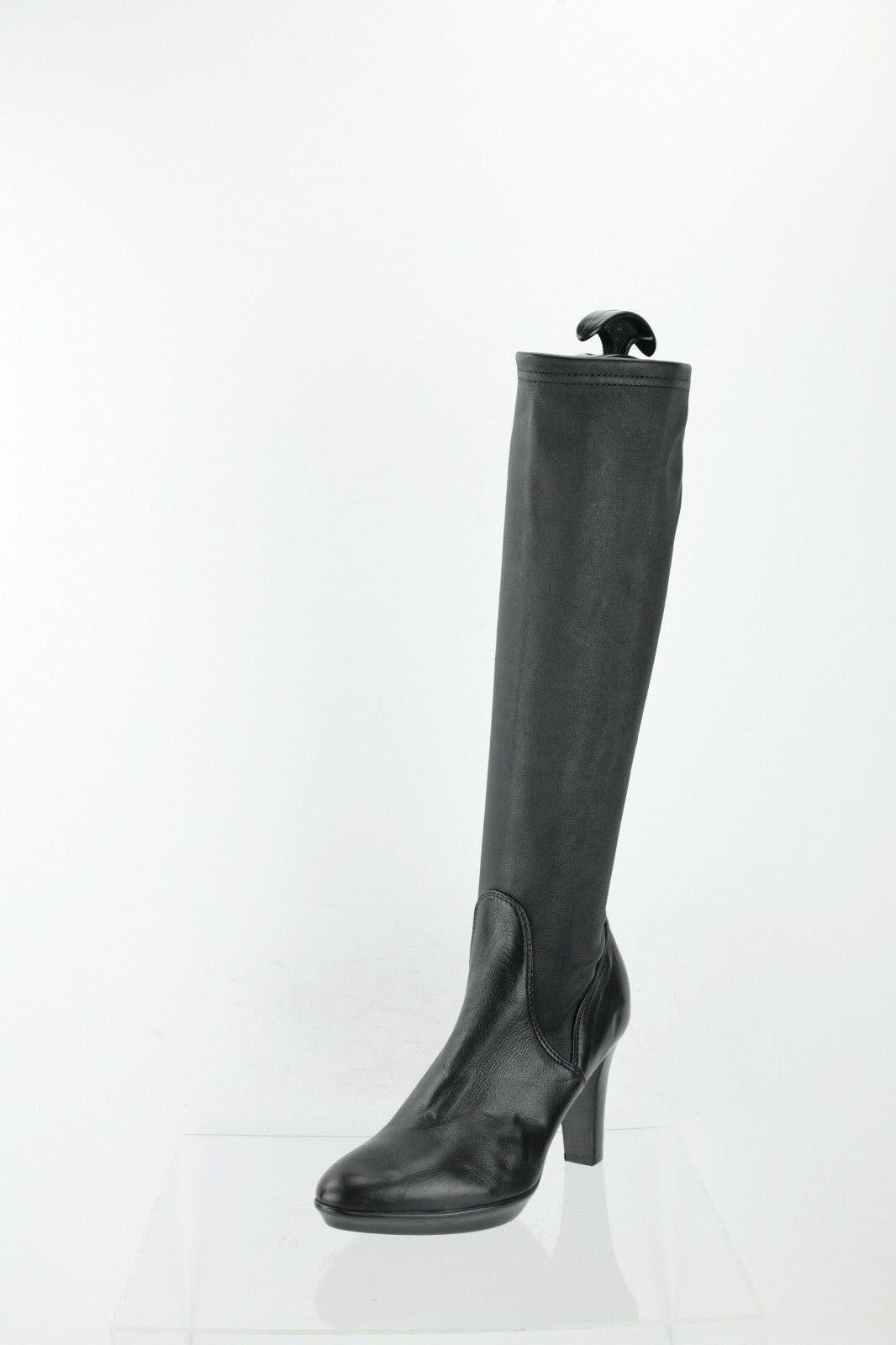 Aquatalia Rumbah Black Leather Knee High Boots Women's Shoes Size 5.5 M NEW