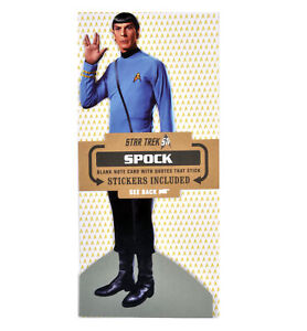 Mr-Spock-Star-Trek-Grusskarte-Mit-Aufkleber-Bogen